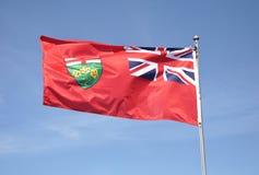 Ontario flag Royalty Free Stock Photo