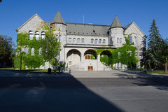 Ontario Hall, part of Queens University at Kingston. Front view of Ontario Hall, historic landmark of Queens University at Kingston royalty free stock images