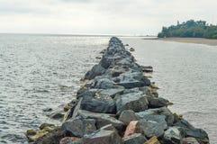 Ontario jezioro kołysa w centrum Toronto Fotografia Stock