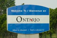 Ontario landskaptecken - Kanada Arkivbild