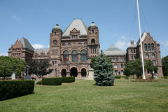 Ontario Parliament Building. The parliament building of the Canadian province of Ontario, in Toronto Stock Photo