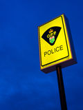 Ontario Provincial Police Sign Stock Image
