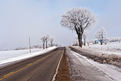 Ontario winter landscape Stock Images