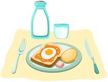 Ontbijt stock illustratie