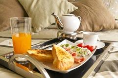 Ontbijt aan bed stock foto's