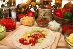 Ontbijt Burrito Royalty-vrije Stock Fotografie