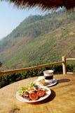 Ontbijt in de heuvel Royalty-vrije Stock Afbeelding