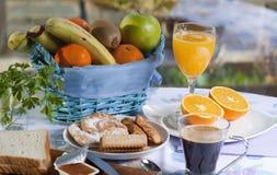 Ontbijt in de lijst Royalty-vrije Stock Foto