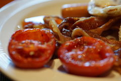 Ontbijt in de ochtend Universeel voedsel Royalty-vrije Stock Afbeeldingen
