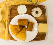 Ontbijt de Vastenavond Royalty-vrije Stock Foto