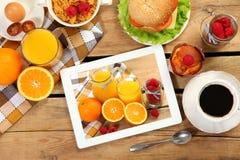 Ontbijt en beeld Stock Fotografie