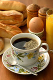 Ontbijt en koffie Royalty-vrije Stock Afbeelding