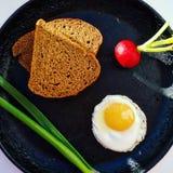 Ontbijt in het dorp Royalty-vrije Stock Fotografie