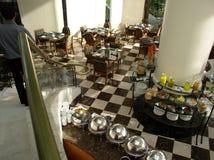 Ontbijt in hotel royalty-vrije stock afbeeldingen