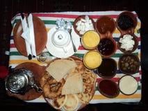 Ontbijt in Marokko/Desayuno Engelse Marruecos royalty-vrije stock afbeeldingen