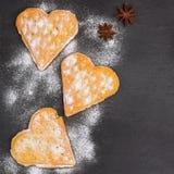 Ontbijt met Belgische wafels Stock Afbeeldingen