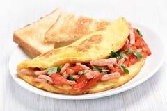 Ontbijt met Eieren en Bacon Royalty-vrije Stock Foto's