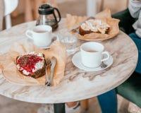 Ontbijt met Franse toosts stock foto