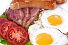 Ontbijt met gebraden eieren Royalty-vrije Stock Foto's