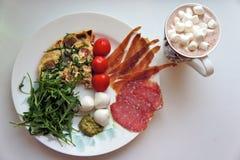 Ontbijt met heemst Stock Afbeelding