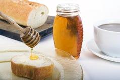 Ontbijt met honing Stock Fotografie