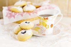 Ontbijt met koekjes Stock Afbeeldingen