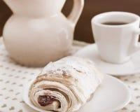 Ontbijt met koffie Stock Afbeelding