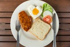 Ontbijt met lapje vlees Stock Foto's