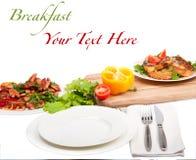 Ontbijt met tekst Royalty-vrije Stock Afbeeldingen