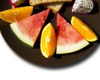 Ontbijt met vruchten Stock Foto