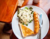 Ontbijt met worst Royalty-vrije Stock Fotografie