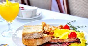 Ontbijt in Mon Ami Gabi Stock Afbeeldingen