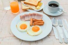 Ontbijt in ochtend Stock Fotografie