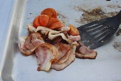 Ontbijt op de barbecue Royalty-vrije Stock Foto's