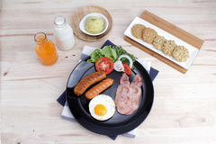 Ontbijt op de lijst Royalty-vrije Stock Fotografie
