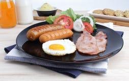 Ontbijt op de lijst Stock Foto