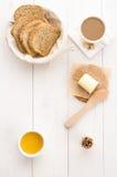 Ontbijt op de lijst Royalty-vrije Stock Afbeelding