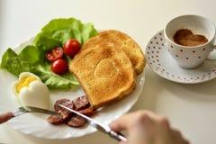 Ontbijt op de plaat Royalty-vrije Stock Fotografie