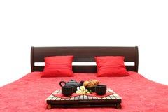 Ontbijt op een bed Royalty-vrije Stock Fotografie