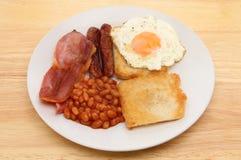 Ontbijt op een lijst Stock Foto