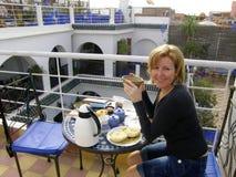 Ontbijt op het dak Royalty-vrije Stock Afbeeldingen