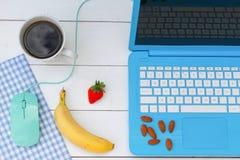 Ontbijt op het werk stock afbeeldingen