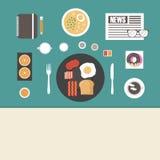 Ontbijt op lijst Royalty-vrije Stock Afbeeldingen