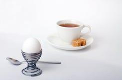 Ontbijt op wit stock fotografie