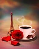 Ontbijt in Parijs Stock Afbeeldingen