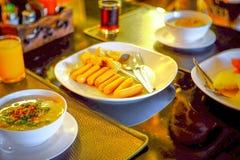 Ontbijt in Thailand Stock Foto