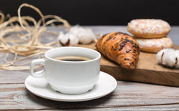 Ontbijt van koffie royalty-vrije stock foto