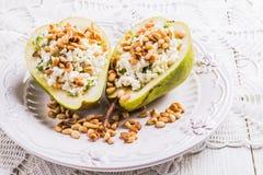 Ontbijt van peren met kaas Royalty-vrije Stock Foto