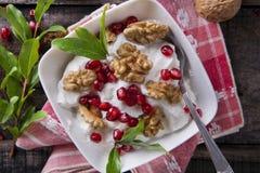 Ontbijt van Yoghurt royalty-vrije stock foto's