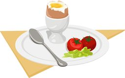 Ontbijt. vector Stock Afbeeldingen
